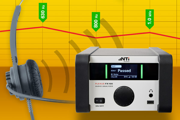 Octave and one-third octave band measurements with the FX100 Audio Analyzer