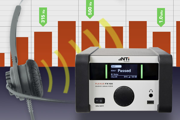 Integrated octave and one-third octave band measurements with the FX100 Audio Analyzer