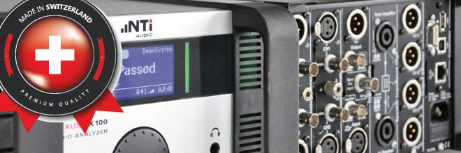 FX100 audio analyzer - Swiss Precision
