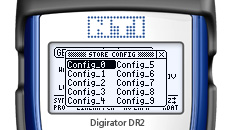 Digirator DR2 screen Configuration