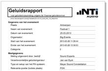 Vlaams Geluidsrapport Demo 1