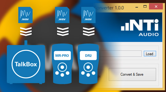 Wave File Converter Software für MR-PRO, DR2 und TalkBox