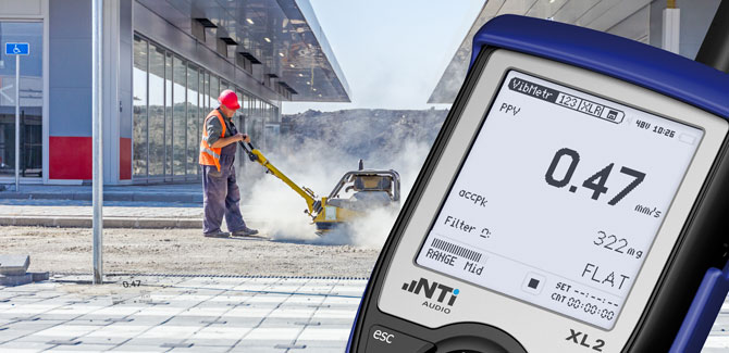 XL2 Vibration Meter supports PPV measurements