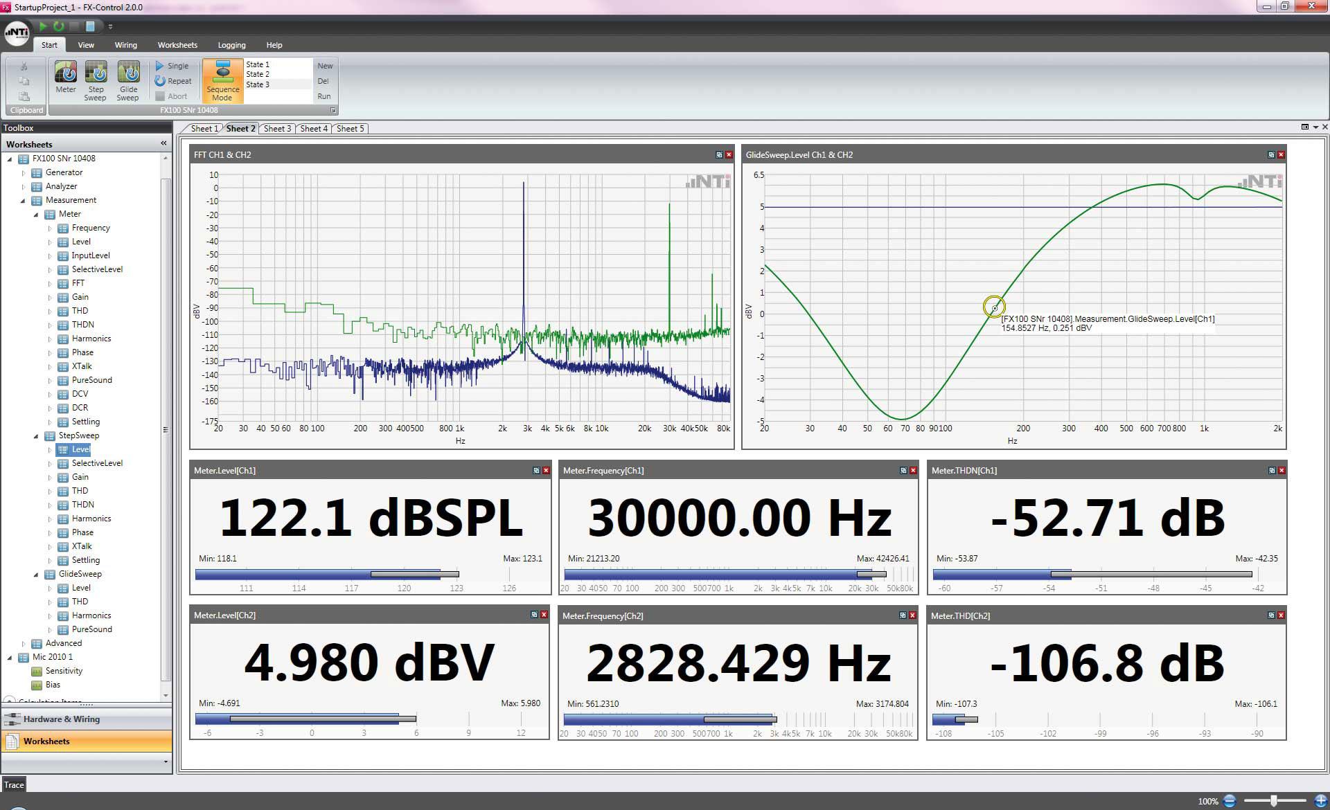 FLEXUS FX100 Audio Analyzer & Generator I NTi Audio