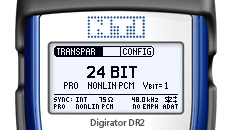 Digirator DR2 screen Transparency