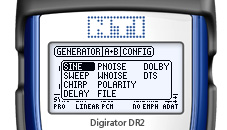 Digirator DR2 screen Wave Selection
