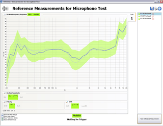 FX100 Microphone Test Software Reference Mode