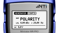 MR-PRO screen Polarity