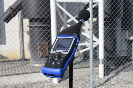 XL2-TA Sound Level Meter with attached microphone